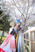Vocaloid : vanan'ice - Cherry Blossom - Kaito by miyoaldy