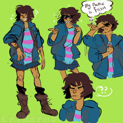 Cool Bruh Frisk by PeppermintFrappe
