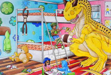 Jurassic Tea Party by johnnylam