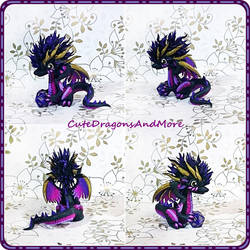 Kuroi, the darkness dragon - SOLD by CuteDragonsAndMore