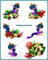 Mimmi, the dragon mermaid princess - FOR SALE by CuteDragonsAndMore