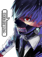 [Render] Kaneki Ken | Tokyo Ghoul by panda-monochromatyc