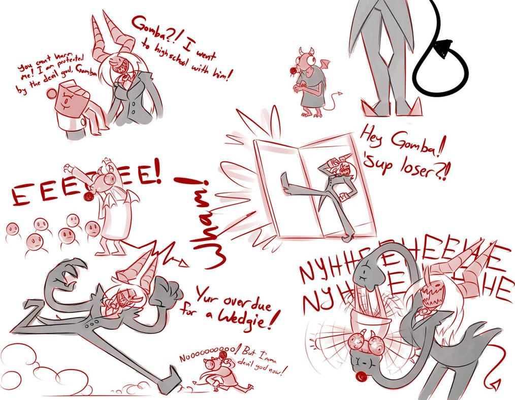 Cruxia vs. Gomba The Devil God of Evil by BlakerOats