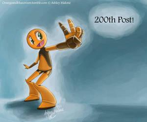 This is not my 200th post! by Orangeandbluecream