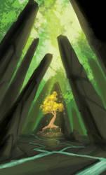 golden tree by Bonkowski