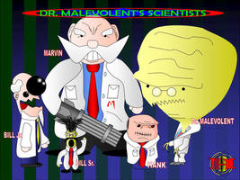 Dr. Malevolent's Scientists by Yholl