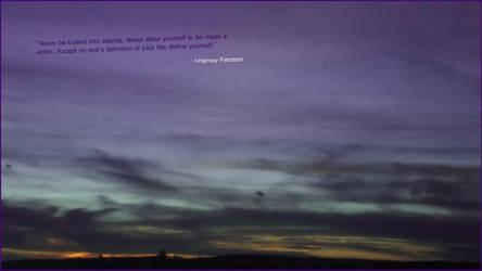 Spirit Day Sunset by WarpedMindedYaoi