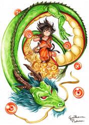 Goku and Shenlong by fhao-ra