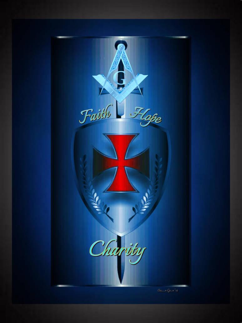 The Templar Knight's Motto: Faith, Hope, Charity by artistaaron28