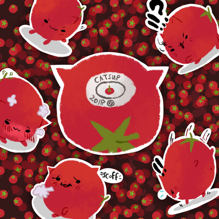 Catsup Stickers by corrupted-azero