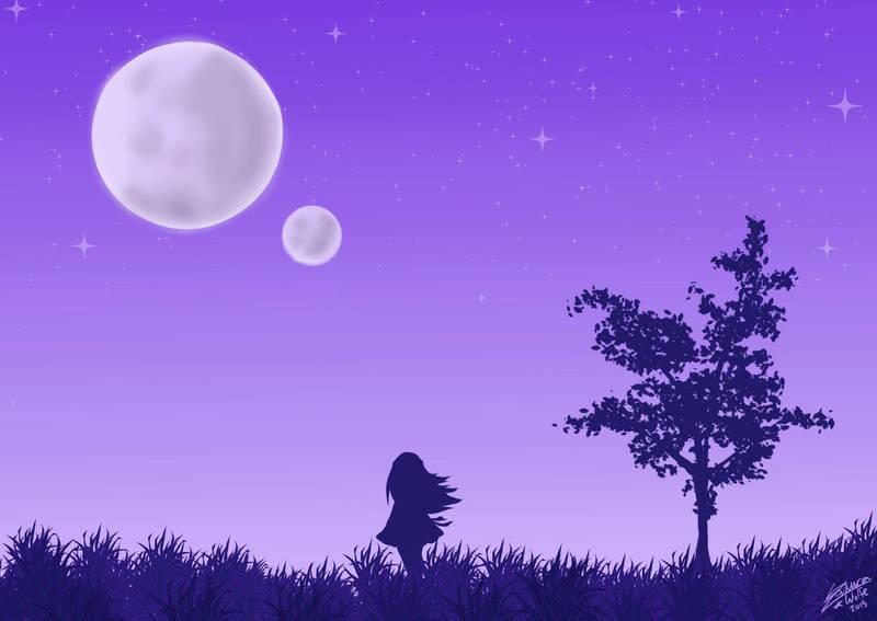 Purple Dreamer by ZakuraWolfe