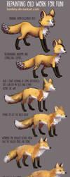 Repainting Fox, 5 year improvement by Lambity
