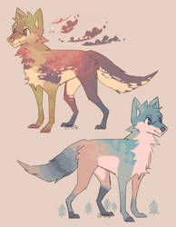 (closed) Color practice Wilderness dogs by Lambity