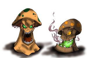 Evil Shrooms of Doom by Baron-Nutsnboltz