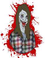 She's a zombie by ZMBGraphics
