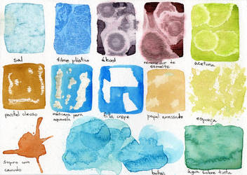 Textures in Watercolor by agataylor