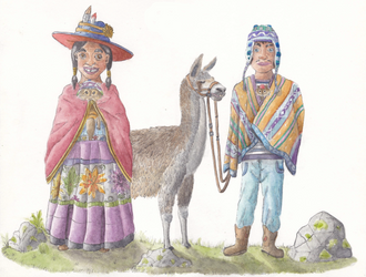 Incan family  - The Bond of Love by hans-sniekers-art