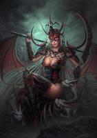 Masked Dragon Girl by feintbellt