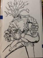 Rocket Raccoon and GROOT by mzjoe