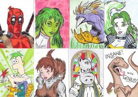 Sketch Cards by mzjoe