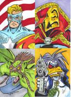 Amalgam Characters Sketchcard Set 1 by mzjoe