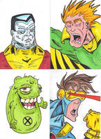X-Men Sketch Cards by mzjoe