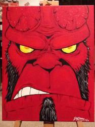 Hellboy by mzjoe