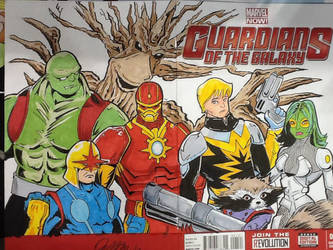Guardians sketch cover by mzjoe