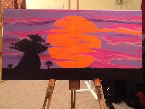 Rafiki Tree Sunset by mzjoe