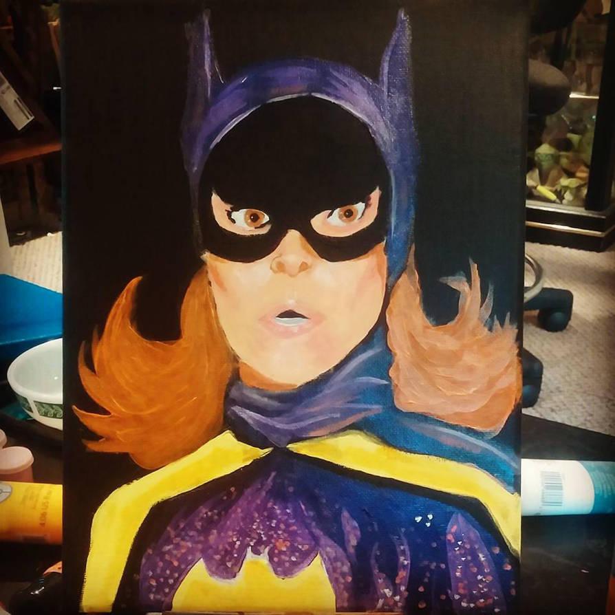 Yvonne Graig as Batgirl painting by mzjoe