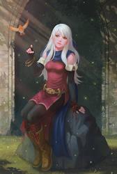 Priestess of Dawn by yagaminoue