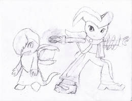 Darknubis and Nightcore uncolored by irodude