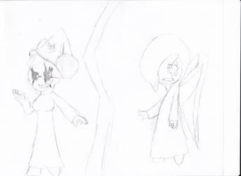 Anubis vs Dark Sara by irodude