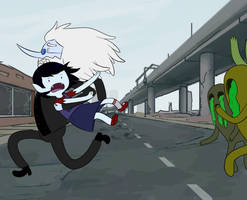 SaM: Zombie Chase by Snowflake-owl