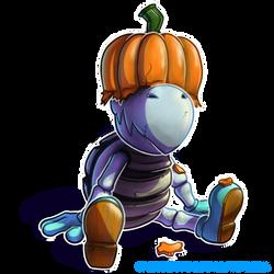 Dry Bones pumpkin hat by SpaceDog500