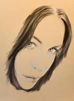 Pastel Noir Portrait by BTBArtist