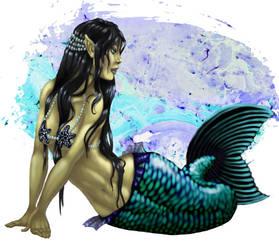 Basking Mermaid by soxfox