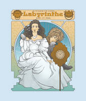 Labyrinth Nouveau Illustration by christadaelia