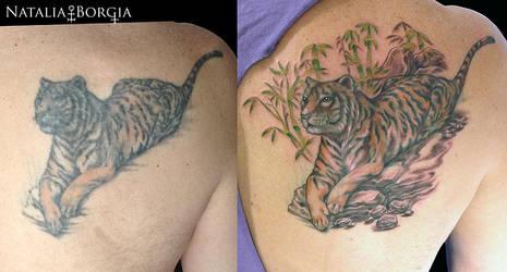 Tiger Tattoo fix up by nataliaborgia