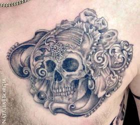 Bride Skull Tattoo by nataliaborgia
