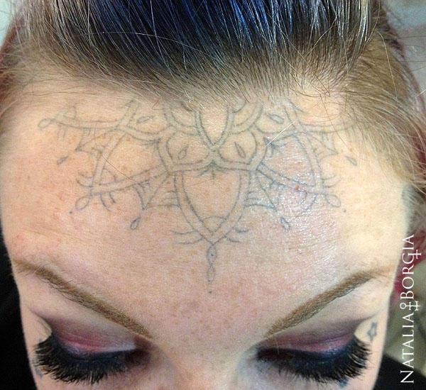 Light graywash mandala tattoo by nataliaborgia