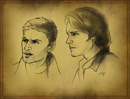 Sam and Dean Quickstudy by quickreaver