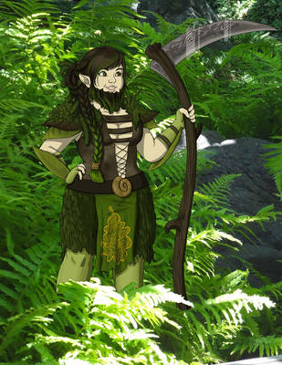Sage the Dwarven Druid by ArtificiallyAwake