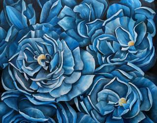 Fleurs Bleues by Kyla-Nichole