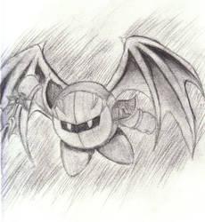 Charcoal Meta Knight Sketch by MissPeridot