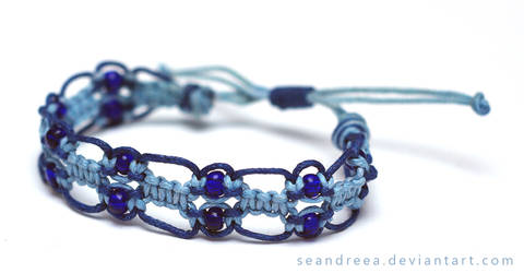 Blue macrame by seandreea