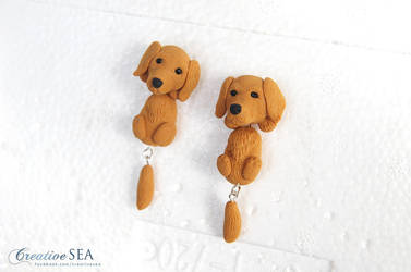 Golden Retriever earrings by seandreea