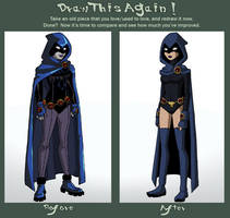 Before and After Meme: Raven by Glee-chan