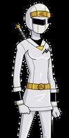 Kakuranger: Ninja White by Glee-chan