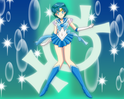 Super Sailor Mercury by Glee-chan